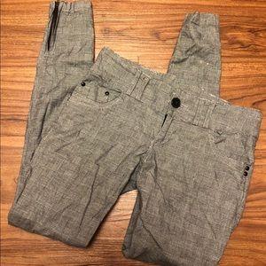 Glenn Plaid Zipper Pants